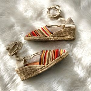 Andre Assous Anthropologie Wedge Espadrilles